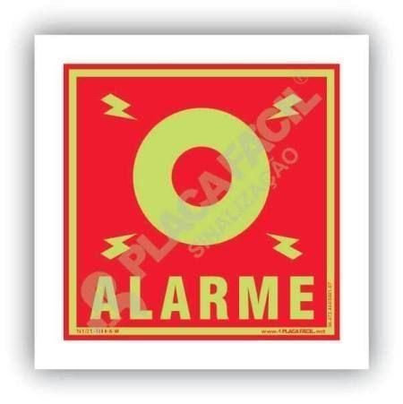 placa de combate a incendio alarme