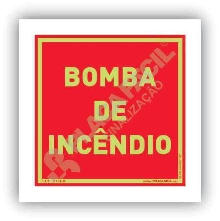 placa de combate a incendio bomba de incendio