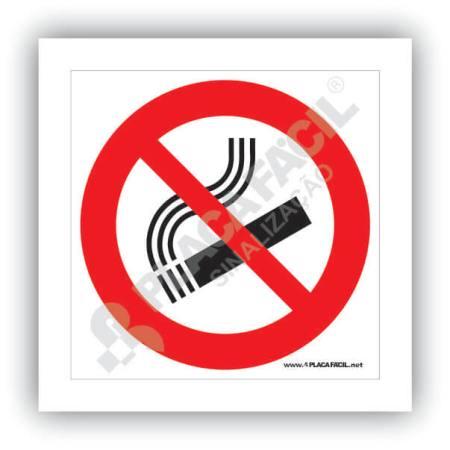 placa de sinalizacao proibido fumar antifumo
