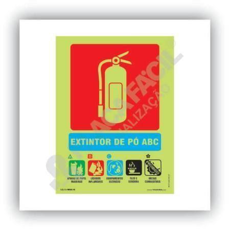 placa indicativa de extintor po abc