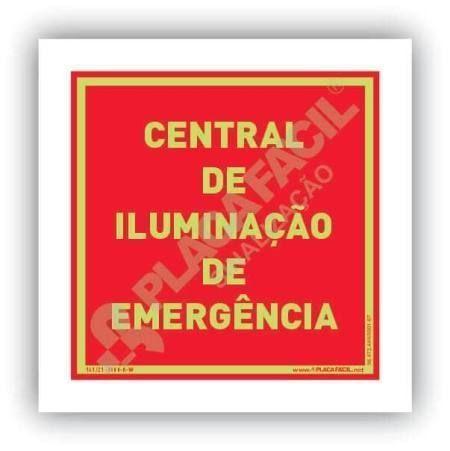 placa indicativa do ponto de acionamento da central de alarme de incendio