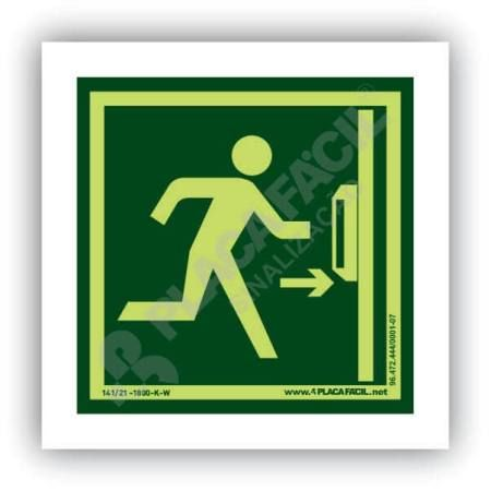 placa porta corta fogo barra anti panico