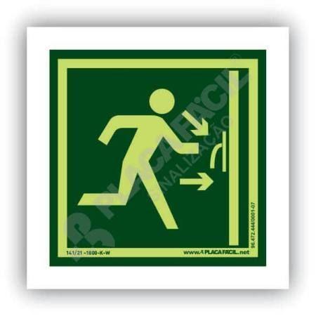 placa porta corta fogo saida de emergencia