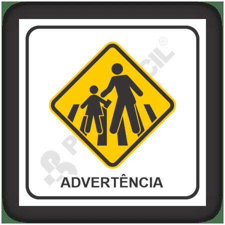 Placas de Sinalização de Advertência