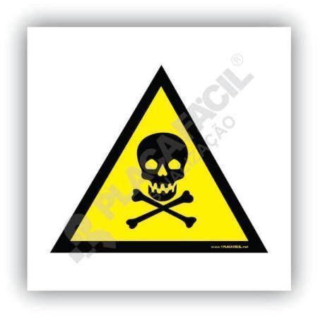 sinalizacao cuidado risco de exposicao a produtos toxicos