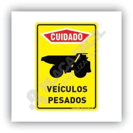 Placa Cuidado Entrada e Saída de Caminhões