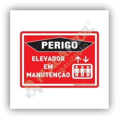 Placa Perigo Elevador em Manutenção