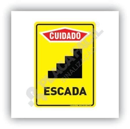 Placa de Cuidado Escada