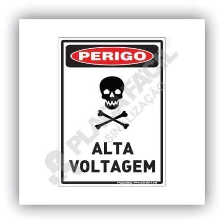 Placa de Perigo - Alta Voltagem