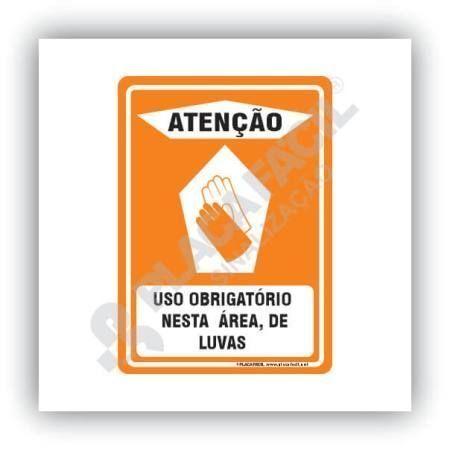 Placa de Sinalização Obrigatório o Uso de Luvas