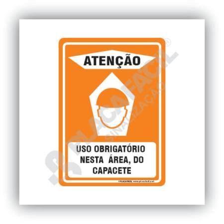 Placa Segurança Obrigatório o Uso de Capacete