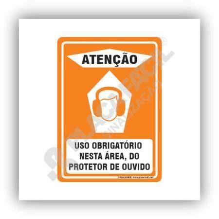 Placa Segurança Uso Obrigatório de Protetor Auricular