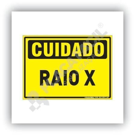 Placa Cuidado Raio-X