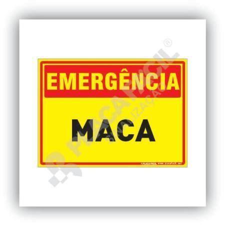 Placa Emergência Maca