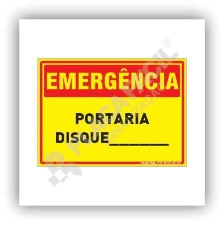 Placa Emergência Portaria Disque