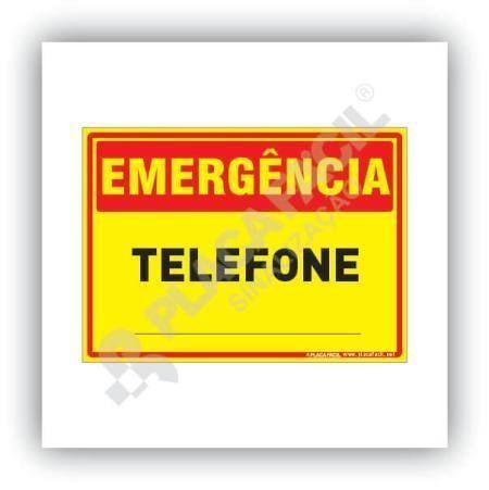 Placa Emergência Telefone