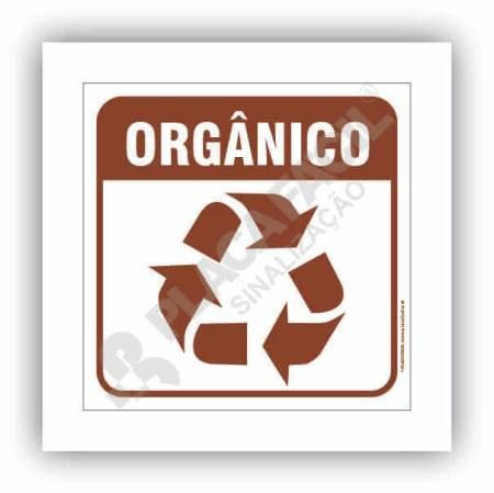 Placa Meio Ambiente Lixo Orgânico