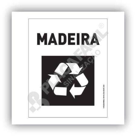 Placa Meio Ambiente Lixo Reciclável Madeira