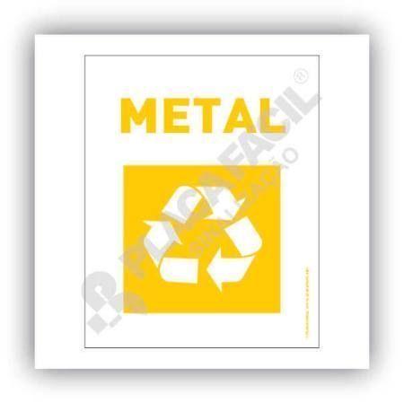 Placa Meio Ambiente Lixo Reciclável Metal