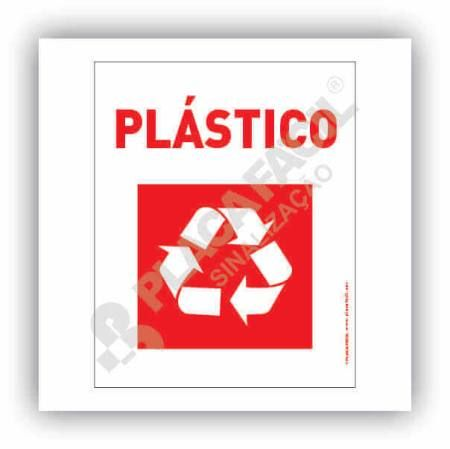 Placa Meio Ambiente Lixo Reciclável