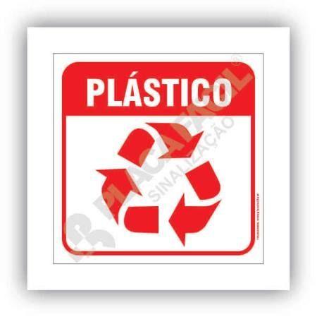 Placa Meio Ambiente Lixo Reciclável Plástico