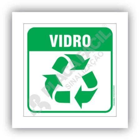 Placa Meio Ambiente Lixo Reciclável Vidro