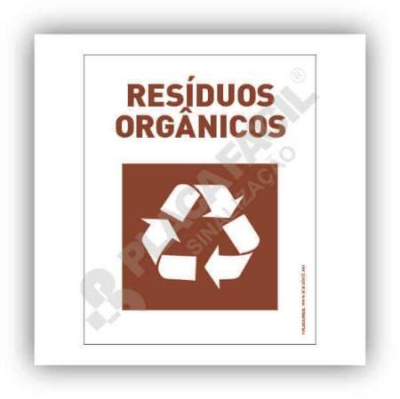 Placa Meio Ambiente Resíduos Orgânicos