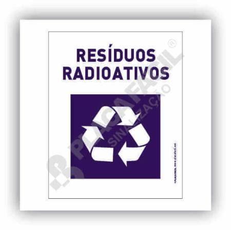 Placa Meio Ambiente Resíduos Radioativos