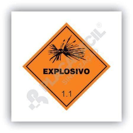 Placa Simbologia de Risco Explosivo 1.1
