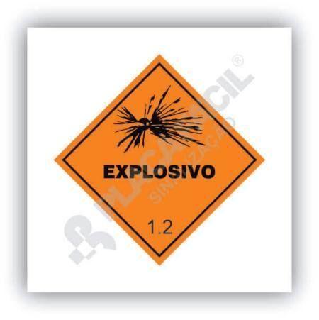 Placa Simbologia de Risco Explosivo 1.2