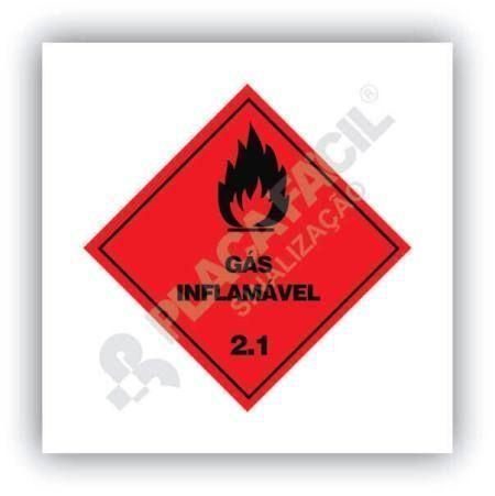 Placa Simbologia de Risco Gás Inflamável 2.1