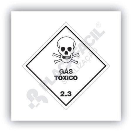 Placa Simbologia de Risco Gás Tóxico