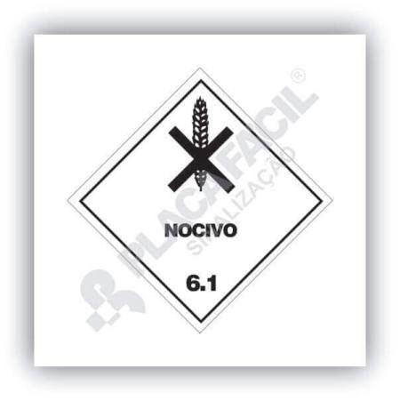 Placa Simbologia de Risco Nocivo 6.1