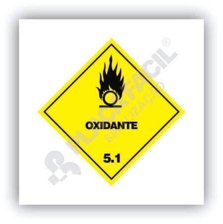 Placa Simbologia de Risco Oxidante 5.1