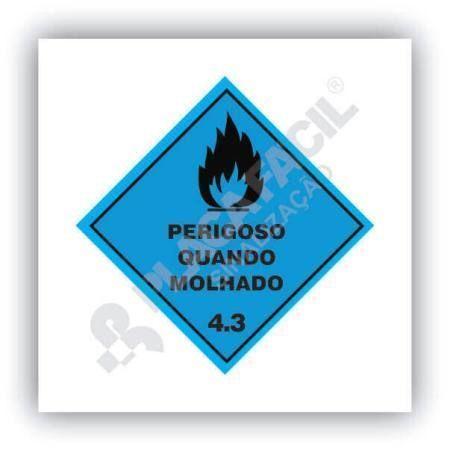 Placa Simbologia de Risco Perigoso Quando Molhado