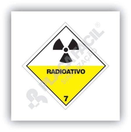 Placa Simbologia de Risco Radioativo