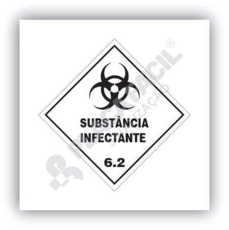 Placa Simbologia de Risco Substância Infectante 6.2
