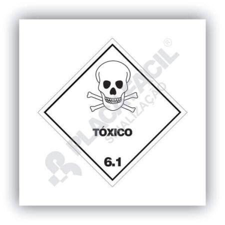 Placa Simbologia de Risco Tóxico 6.1