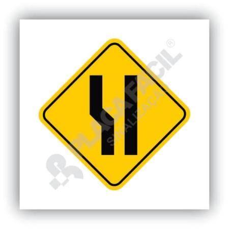 Placa Alargamento de Pista à Esquerda