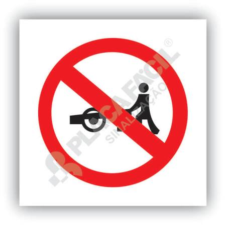 Placa Trânsito Proibido a Carros de Mão