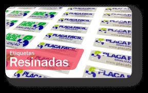 Placas de Sinalização Etiquetas Resinadas