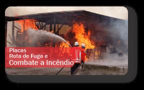 Placas de Sinalização de Incêndio e Rota de Fuga