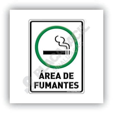 Placa De Sinalização Área Para Fumantes