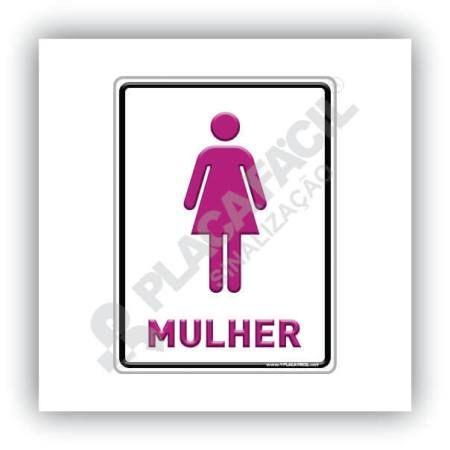 Placa Informativa Banheiro Feminino