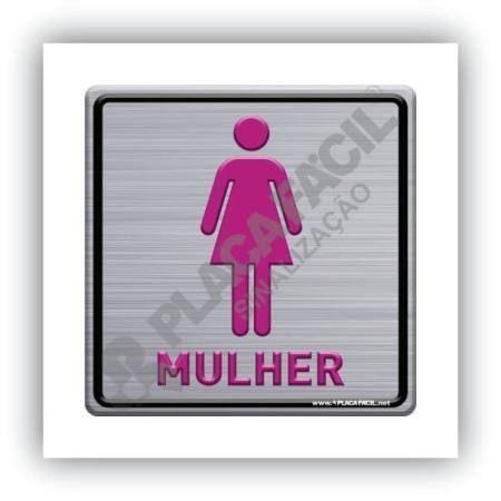 Placa de Sinalização Banheiro Feminino