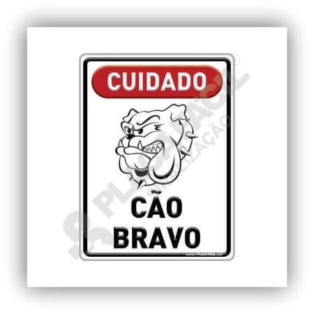 Placa De Sinalização Cão Bravo