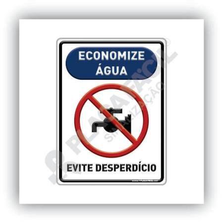 Placa De Sinalização Economize Água Evite Desperdício