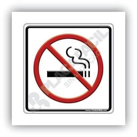 Placa de Sinalização Não Fume