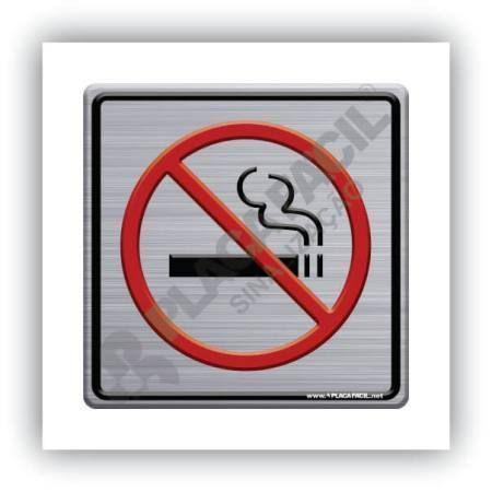 Placa de Sinlização Não Fume