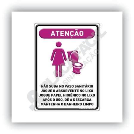Placa Informativa Não Suba No Vaso Sanitário
